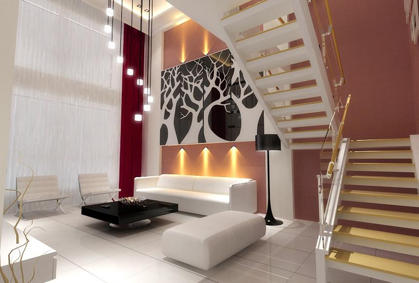 【沈阳】浅草绿阁106㎡阁楼现代风格装修效果图