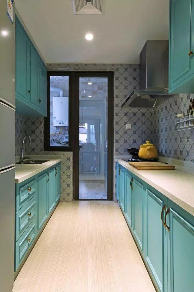 二字型厨柜